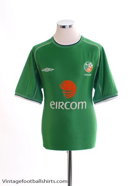 2001-03 Ireland Home Shirt L
