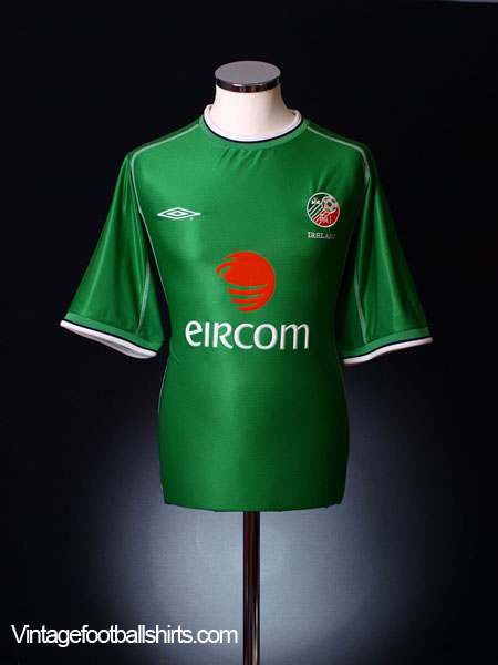 2001-03 Ireland Home Shirt M