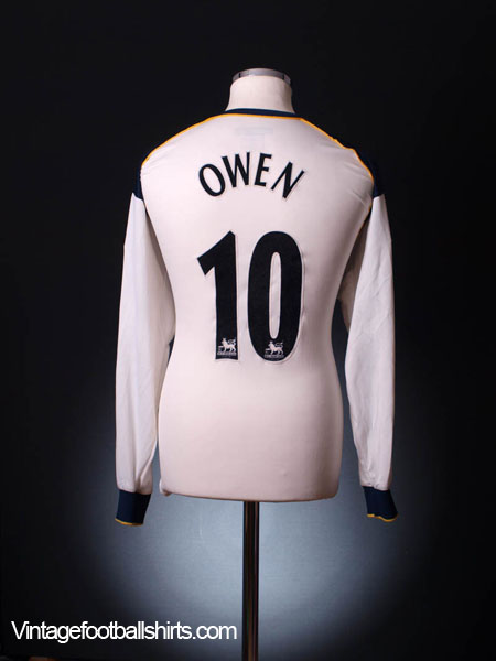 2001-03 Liverpool Away Shirt Owen #10 L/S L