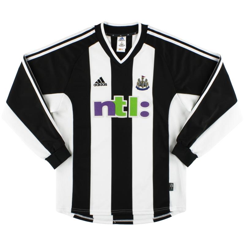 2001-03 Newcastle adidas Home Shirt L/S M