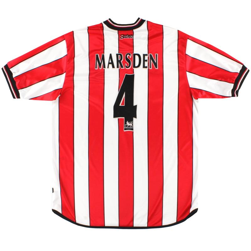 2001-03 Southampton Home Shirt Marsden #4 L