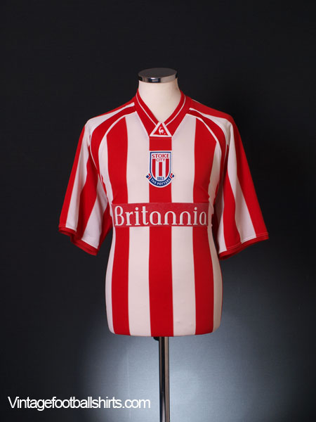 2001-03 Stoke City Home Shirt L
