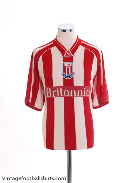 2001-03 Stoke City Home Shirt L