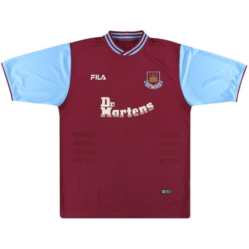 2001-03 West Ham Fila Home Shirt L