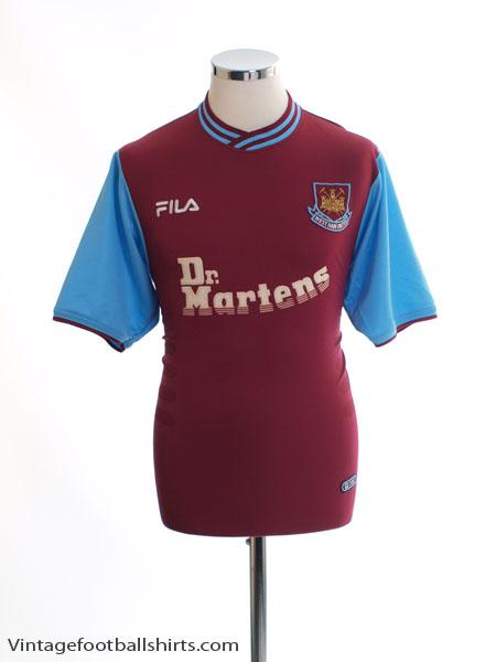 2001-03 West Ham Home Shirt S