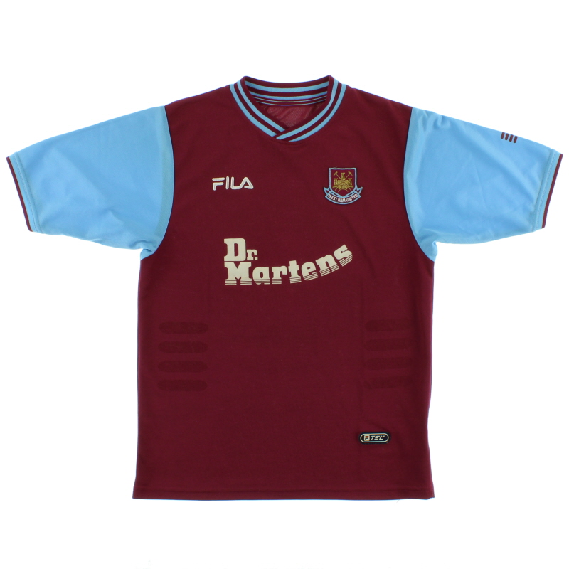 2001-03 West Ham Home Shirt Y