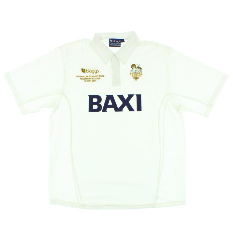 2001 Preston 'Play-Off Final' Home Shirt L