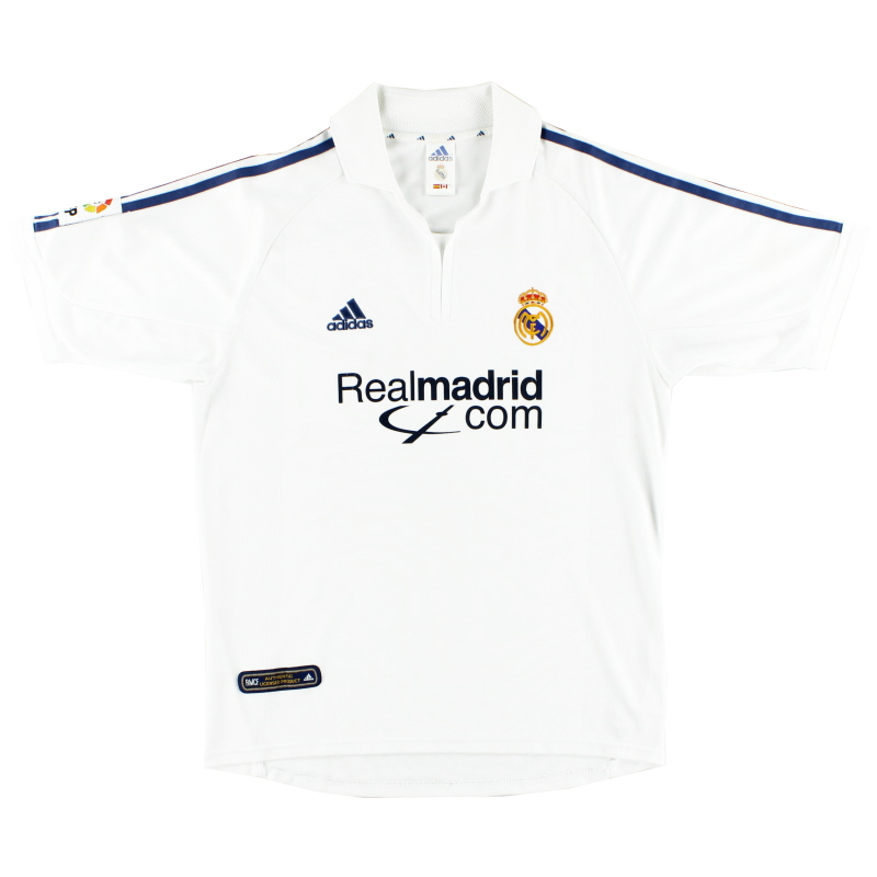 2001 Real Madrid Home Shirt S