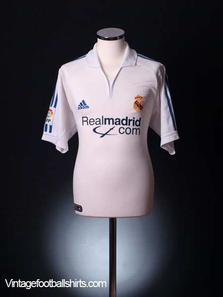 2001 Real Madrid Home Shirt L