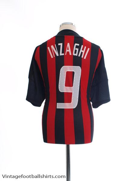 2002-03 AC Milan Home Shirt Inzaghi #9 XL - 156165