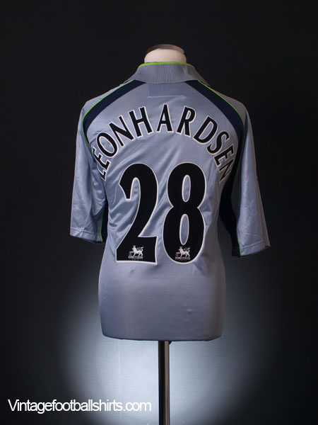 2002-03 Aston Villa Match Issue Third Shirt Leonhardsen #28 L