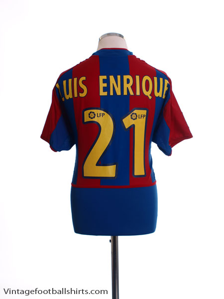 2002-03 Barcelona Home Shirt Luis Enrique #21 M