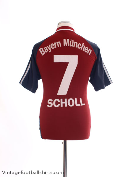 2002-03 Bayern Munich Home Shirt Scholl #7 XXL - 694721