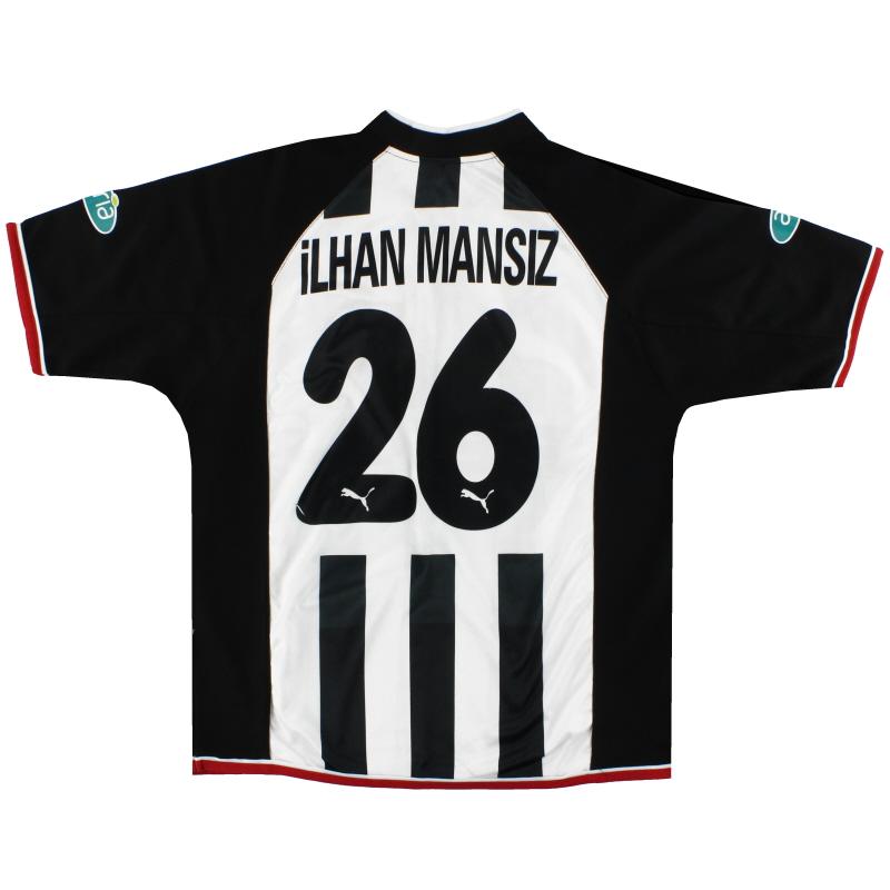 2002-03 Besiktas Puma Centenary Away Shirt Ilhan Mansiz #26 L