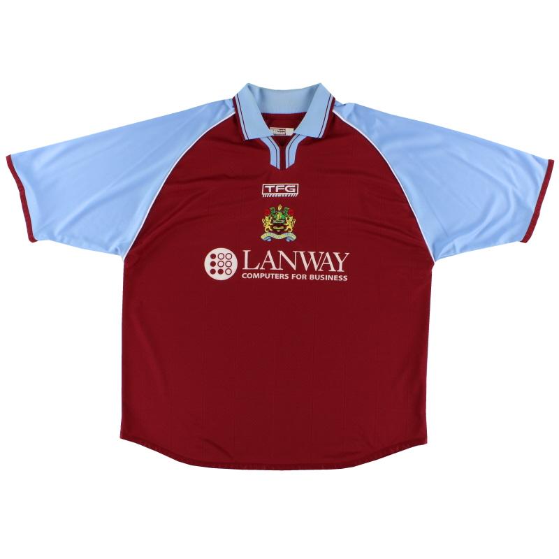 2002-03 Burnley Home Shirt XL