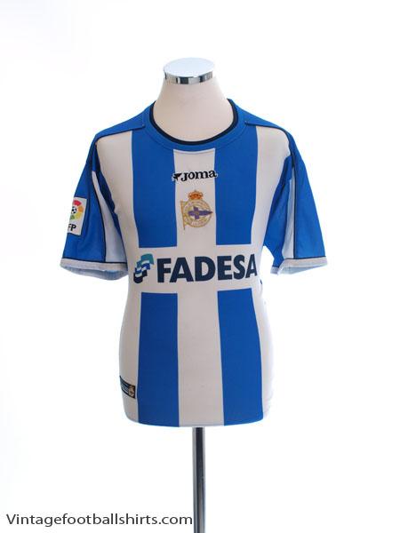 2002-03 Deportivo Home Shirt L