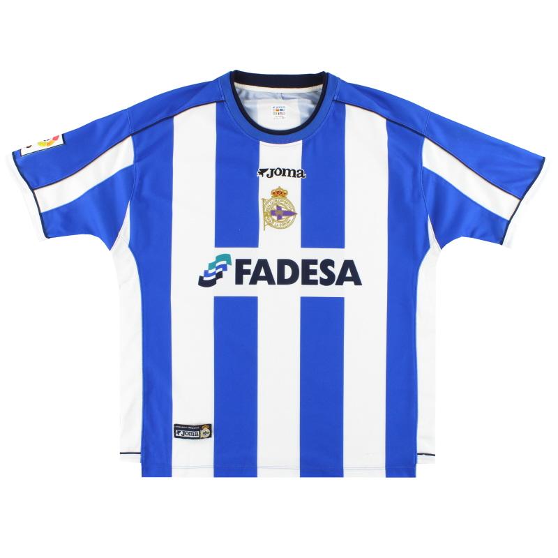 2002-03 Deportivo Joma Home Shirt XXL