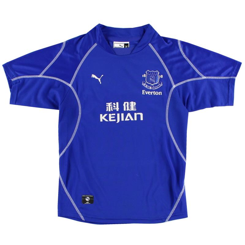 2002-03 Everton Home Shirt L.Boys