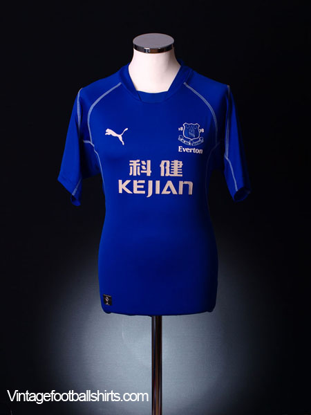 2002-03 Everton Home Shirt L.Boys