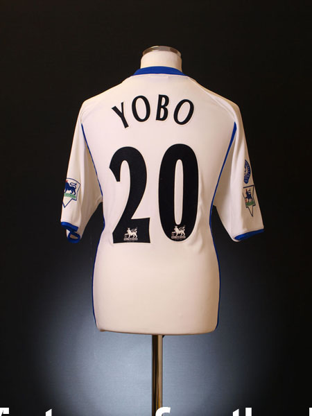 2002-03 Everton Match Issue Away Shirt Yobo #20