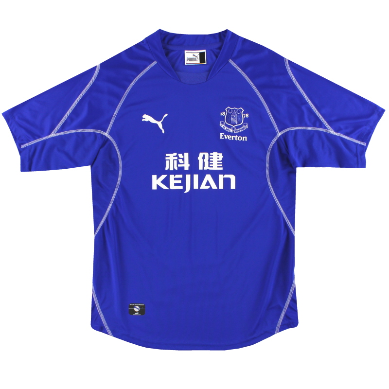 2002-03 Everton Puma Home Shirt L