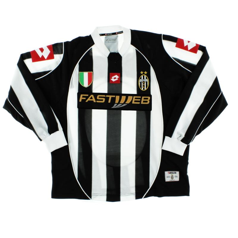 2002-03 Juventus Home Shirt L/S L