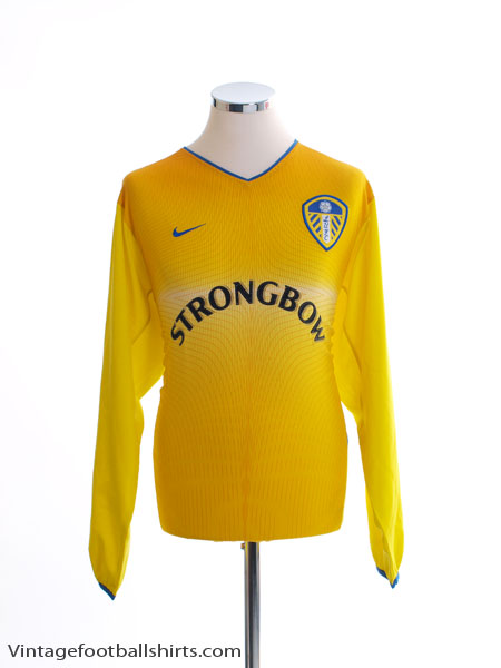 2002-03 Leeds Away Shirt L/S M