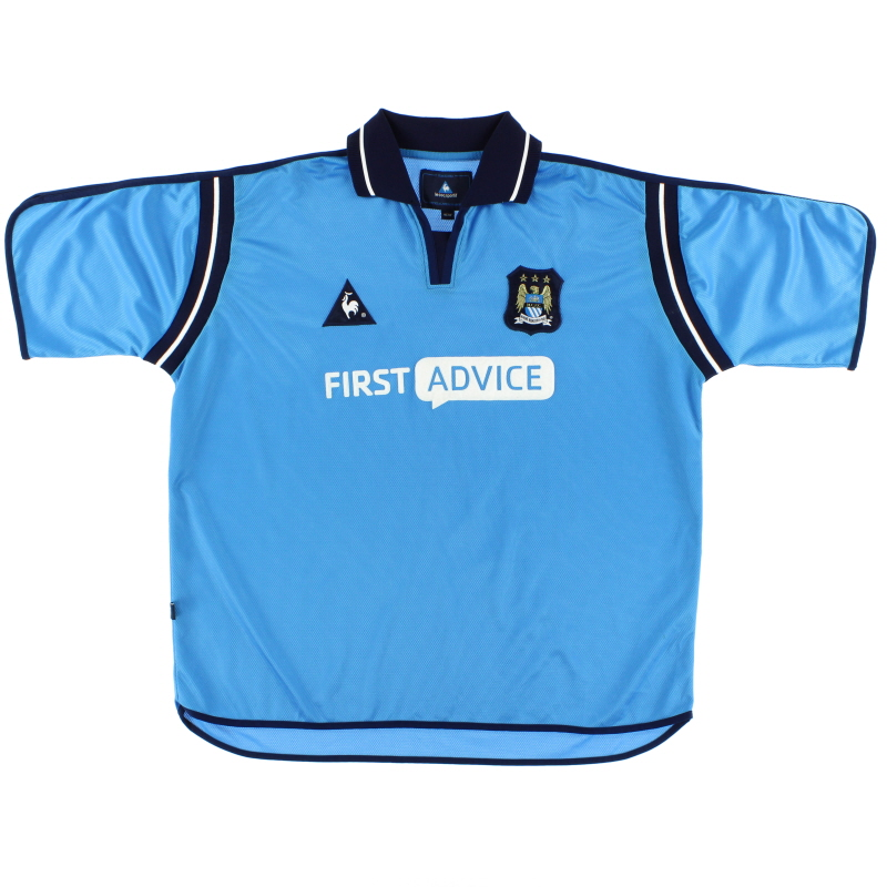 2002-03 Manchester City Le Coq Sportif  Home Shirt XL