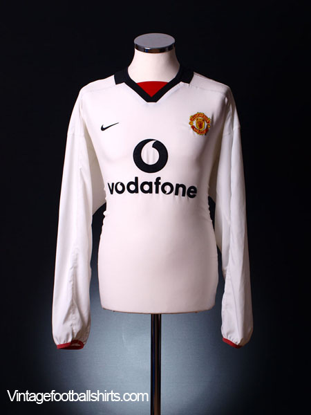2002-03 Manchester United Away Shirt L/S XL