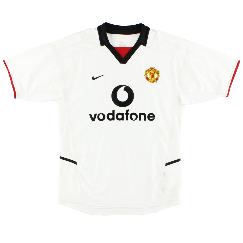 2002-03 Manchester United Away Shirt L.Boys