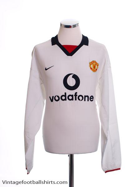 2002-03 Manchester United Away Shirt L/S *BNWT* XXL