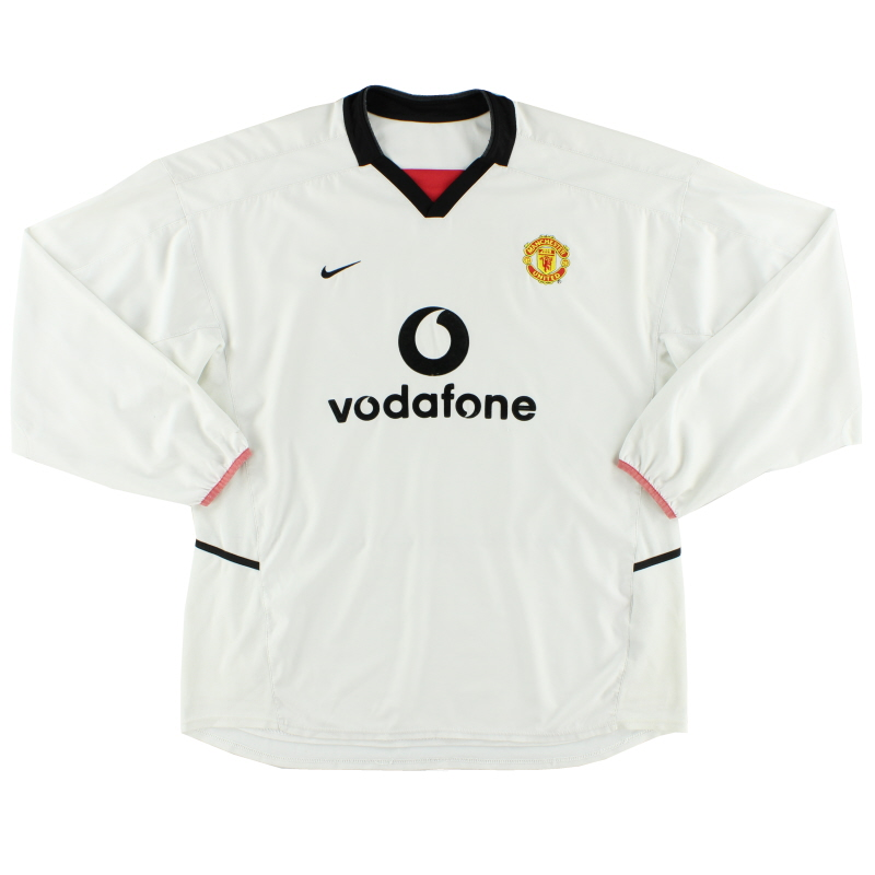 2002-03 Manchester United Away Shirt L/S XXL - 184952