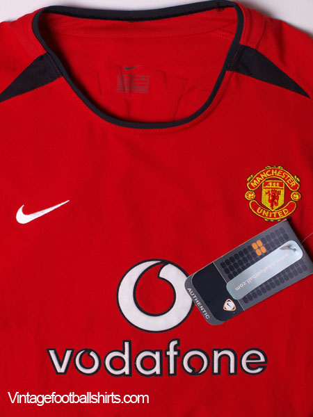 b239d46e238 2002-03 Manchester United Home Shirt Beckham  7  BNWT  XL.Boys for sale
