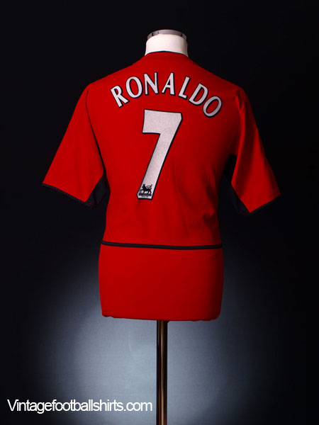 2002-04 Manchester United Home Shirt Ronaldo #7 L