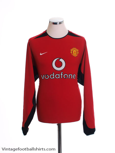 2002-03 Manchester United Home Shirt L/S M