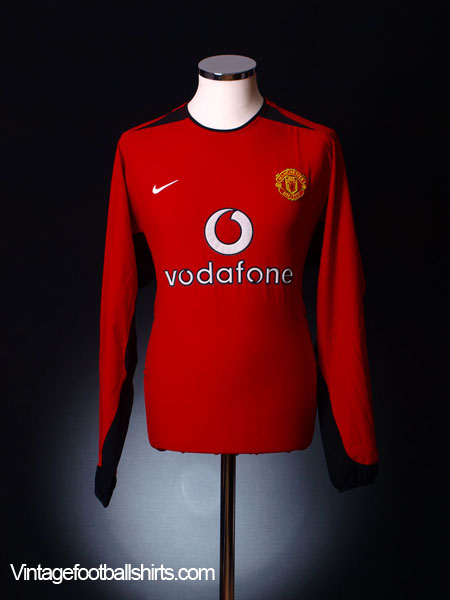 2002-04 Manchester United Home Shirt L/S XL