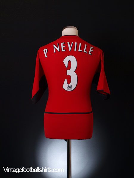 2002-04 Manchester United Home Shirt P.Neville #3 L