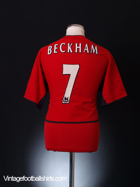 66d3c404a40 2002-03 Manchester United Home Shirt Beckham  7 M for sale