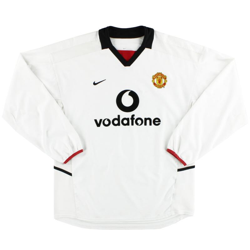 2002-03 Manchester United Nike Away Shirt L/S M - 184952