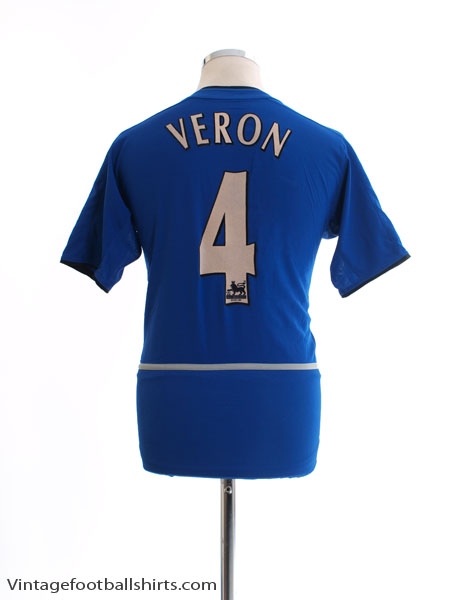 2002-03 Manchester United Third Shirt Veron #4 XL.Boys - 464379