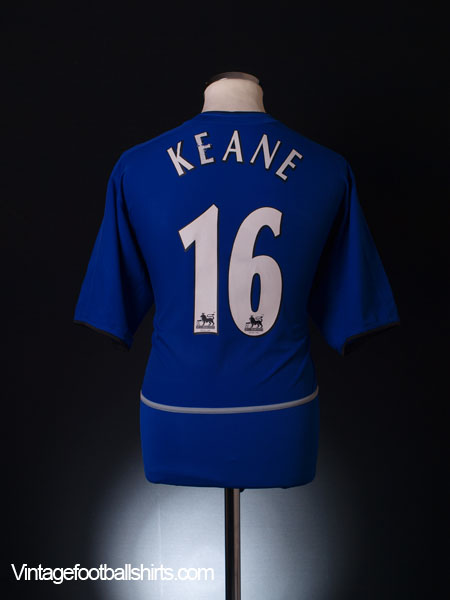 2002-03 Manchester United Third Shirt Keane #16 L