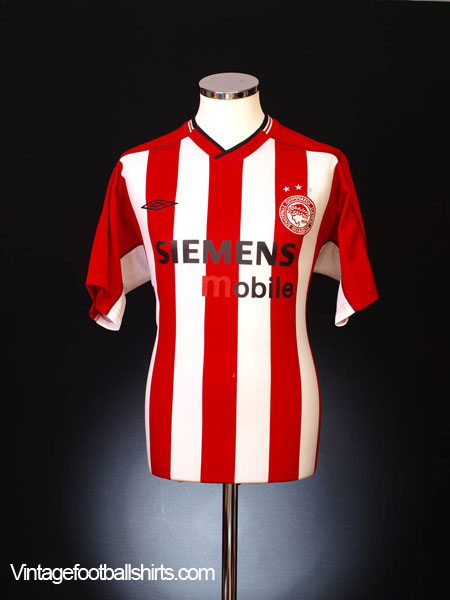 2002-03 Olympiakos Home Shirt XXL
