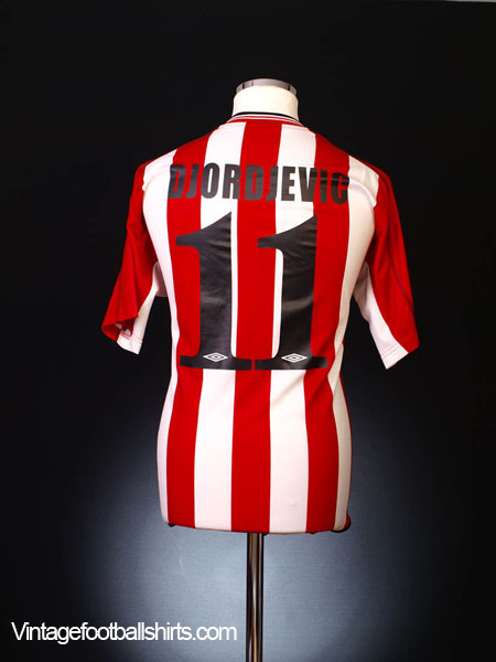 2002-03 Olympiakos Home Shirt Djordjevic #11 L