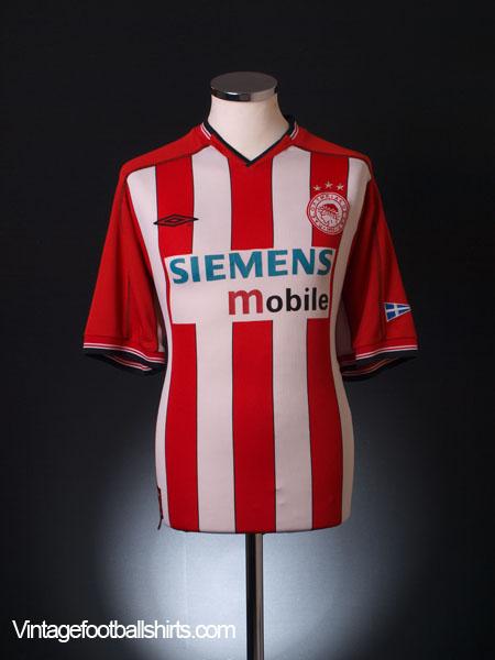 2002-03 Olympiakos Home Shirt XL