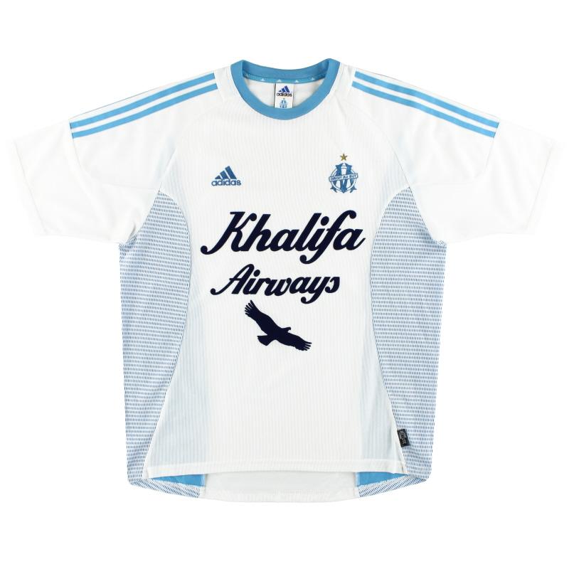 2002-03 Olympique Marseille adidas Home Shirt L - 135519