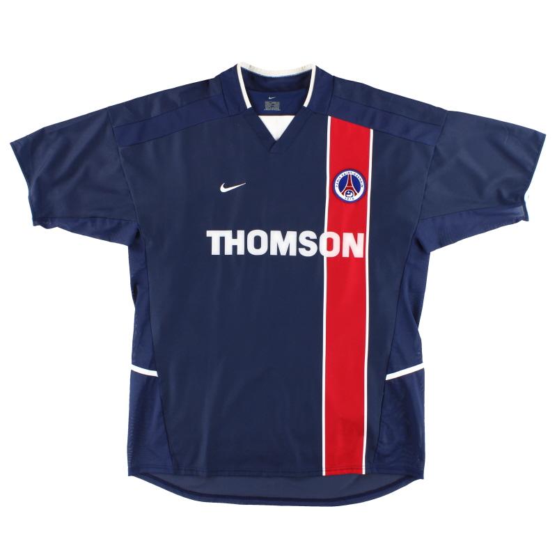 2002-03 Paris Saint-Germain Nike Player Issue Home Shirt L - 184376
