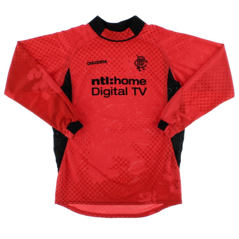 2002-03 Rangers Goalkeeper Shirt *Mint* L.Boys