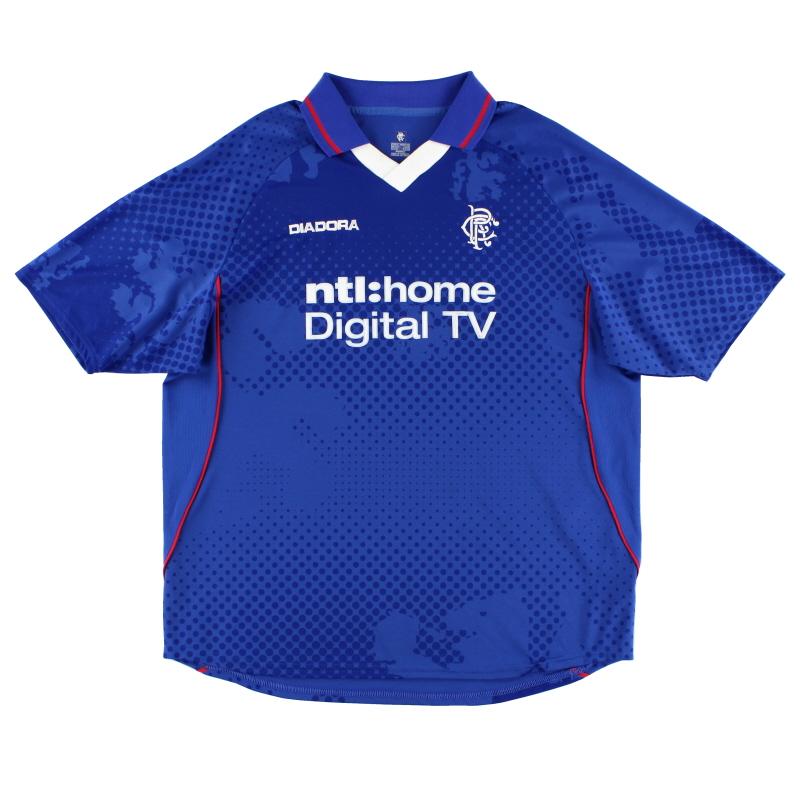 2002-03 Rangers Diadora Home Shirt XL