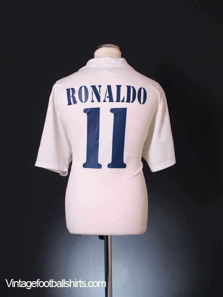 2002-03 Real Madrid Centenary Home Shirt Ronaldo #11 L