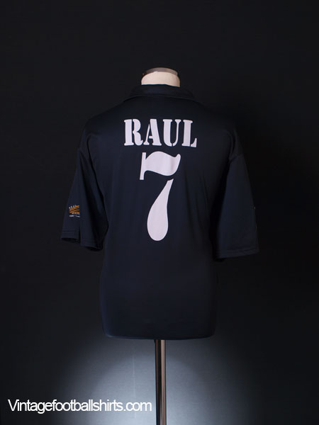 2002-03 Real Madrid Centenary Away Shirt Raul #7 XL